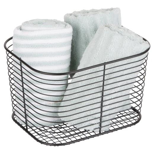 Bathroom Vanity Baskets wire bathroom vanity basket (large) black - room essentials™ : target