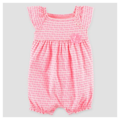 Baby Girls' Elephant Flower Romper - Just One You™ Made by Carter's® Pink 6M
