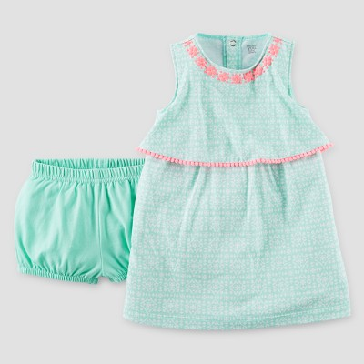 Baby Girls' Geometric Dress - Just One You™ Made by Carter's® Mint 3M