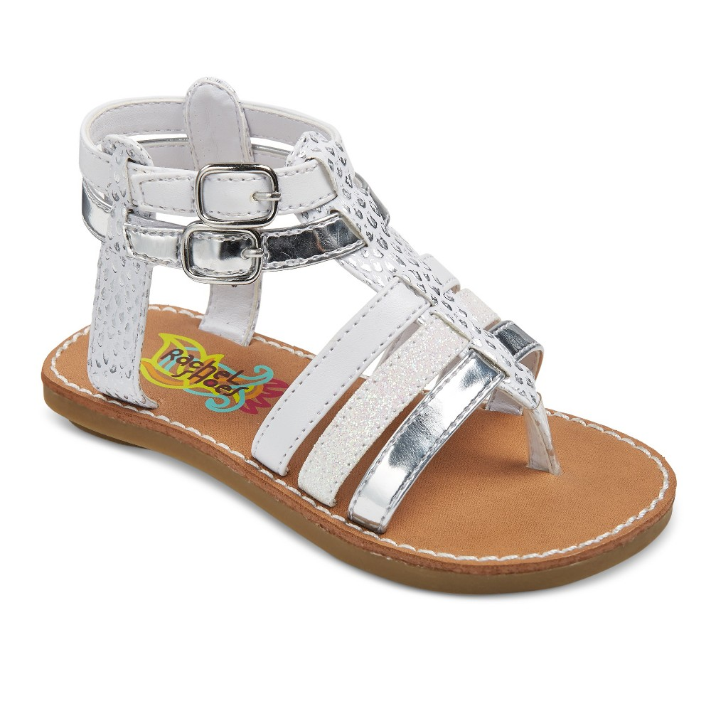 Toddler Girls Rachel Shoes Lil Mercedes Gladiator Sandals - White 7