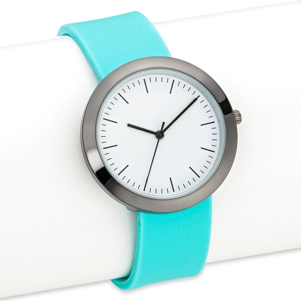 Women's Silicone Strap Watch - Xhilaration Mint, Mint Green