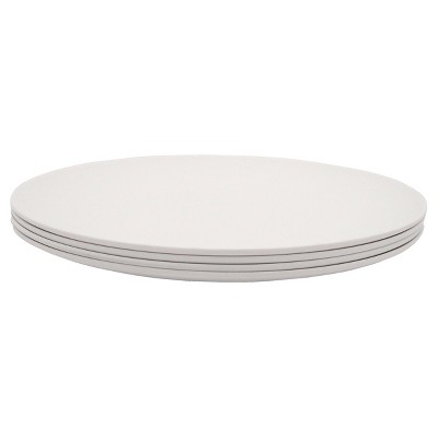 PLAnet Dinner Plate 10in White 4pk - EcoSouLife®