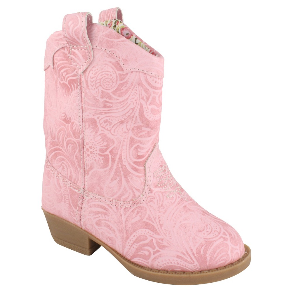 Toddler Girls Natural Steps Clara Western Boots - Pink 5