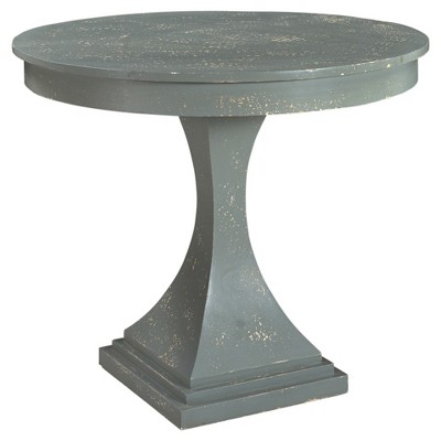 Hamptons Collection Mango Wood Accent Table   Gray Green   Christopher  Knight Home