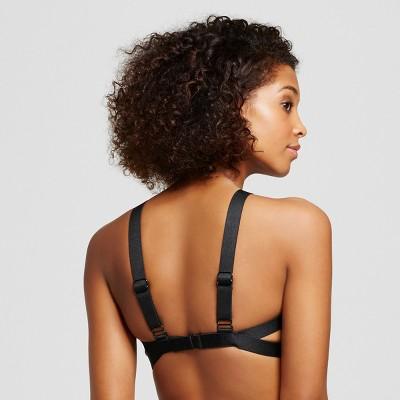 Women's High Neck Bikini Top - Black Multi - XL - Xhilaration