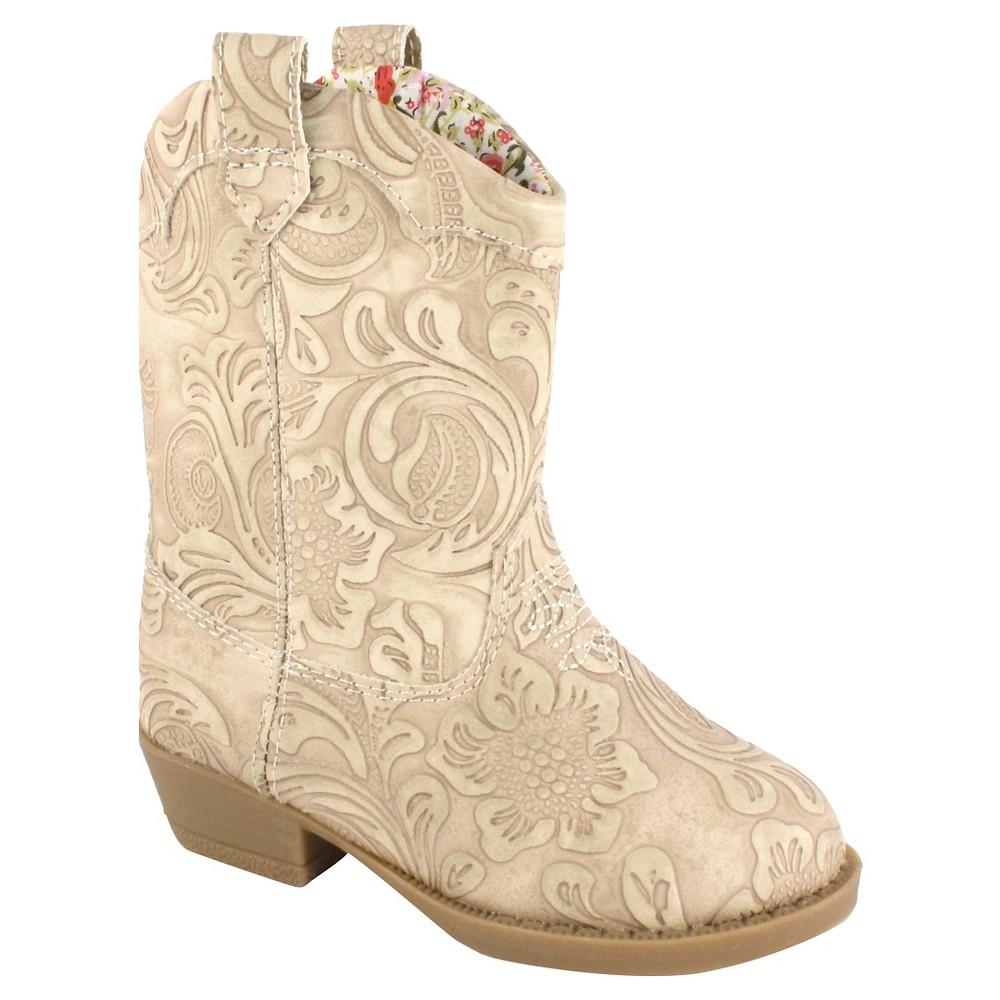 Toddler Girls Natural Steps Clara Western Boots - Buff Beige 7