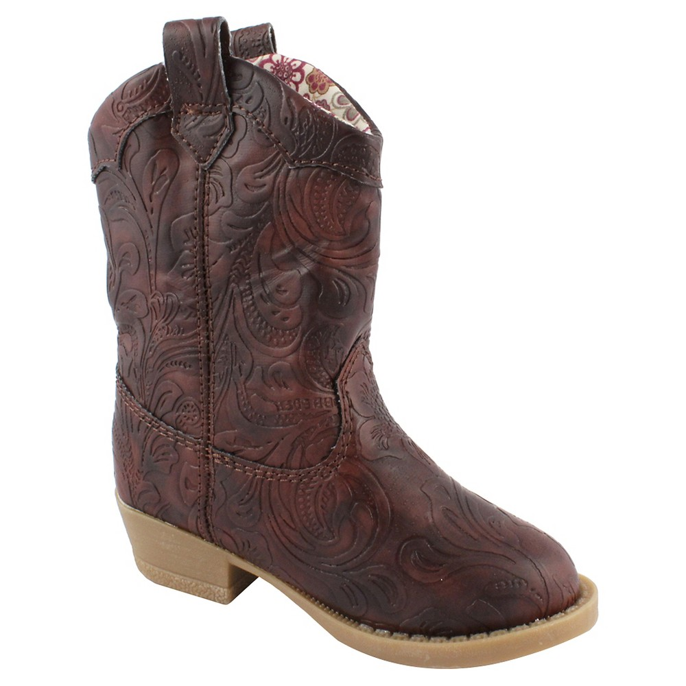 Toddler Girls Natural Steps Clara Western Boots - Brown 1, Size: 11