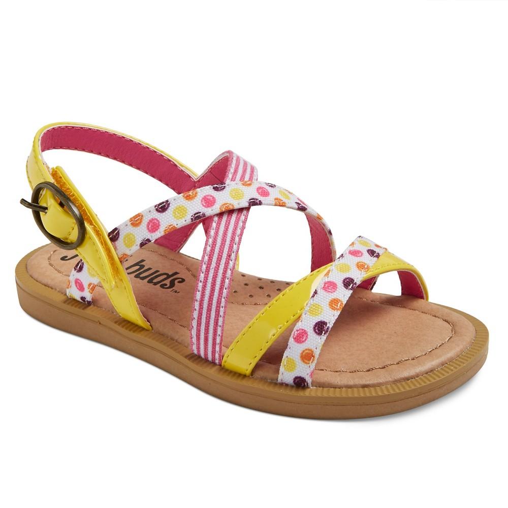 Toddler Girls Just Buds Bailey Quarter Strap Sandals - Yellow 12