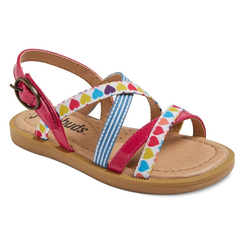 Toddler Girls Just Buds Bailey Quarter Strap Sandals - Pink 5