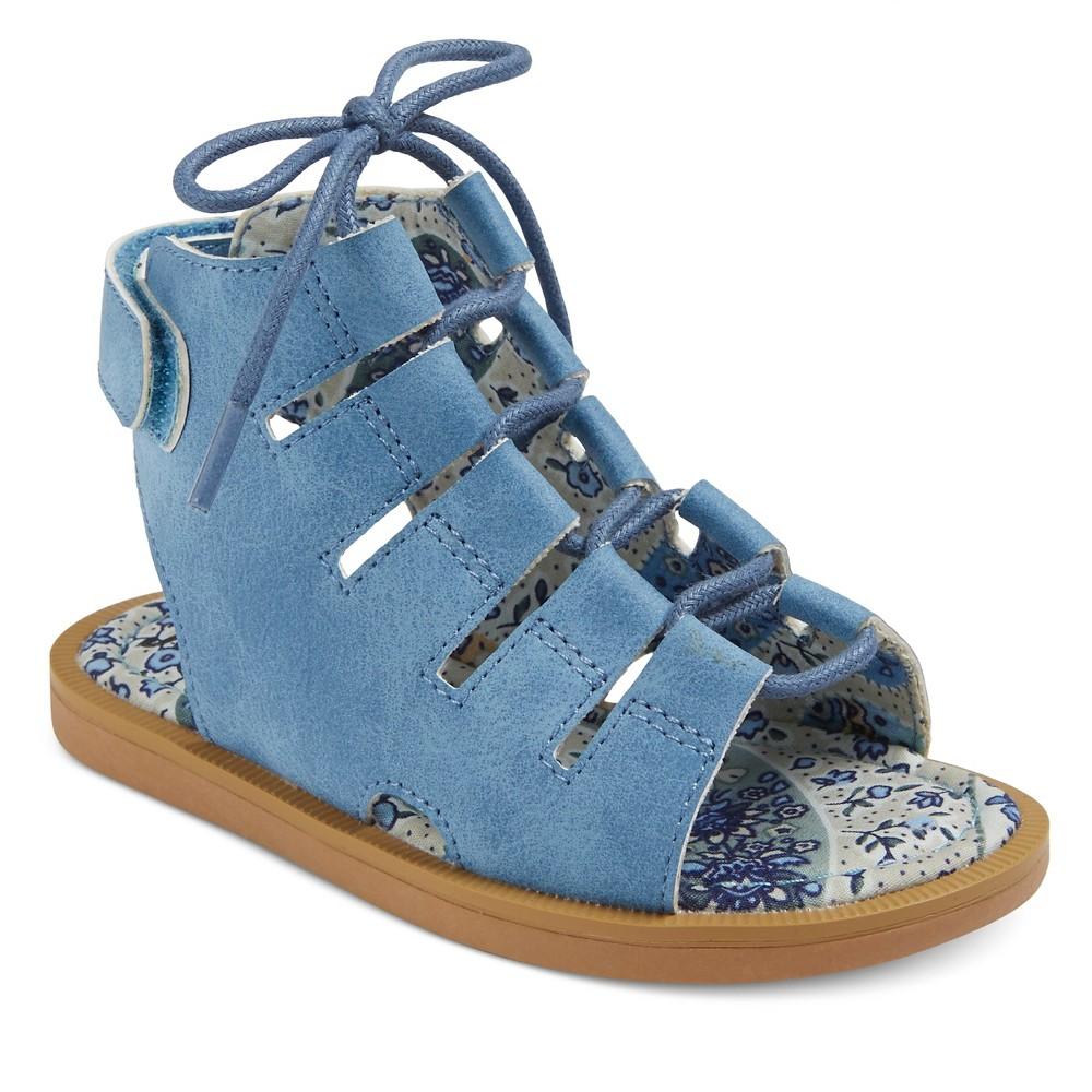 Toddler Girls Just Buds Jordyn Gladiator Sandals - Blue 8