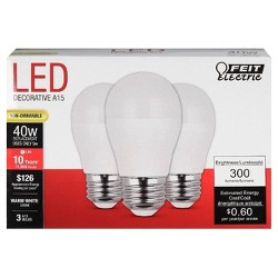 Feit A15 40-Watt LED Light Bulb Medium Base (3 Pack) - Soft White