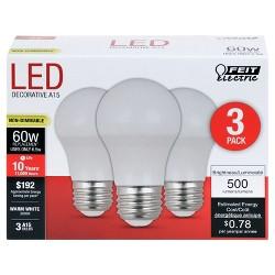Feit A15 60-Watt LED Light Bulb Medium Base (3 Pack) - Soft White