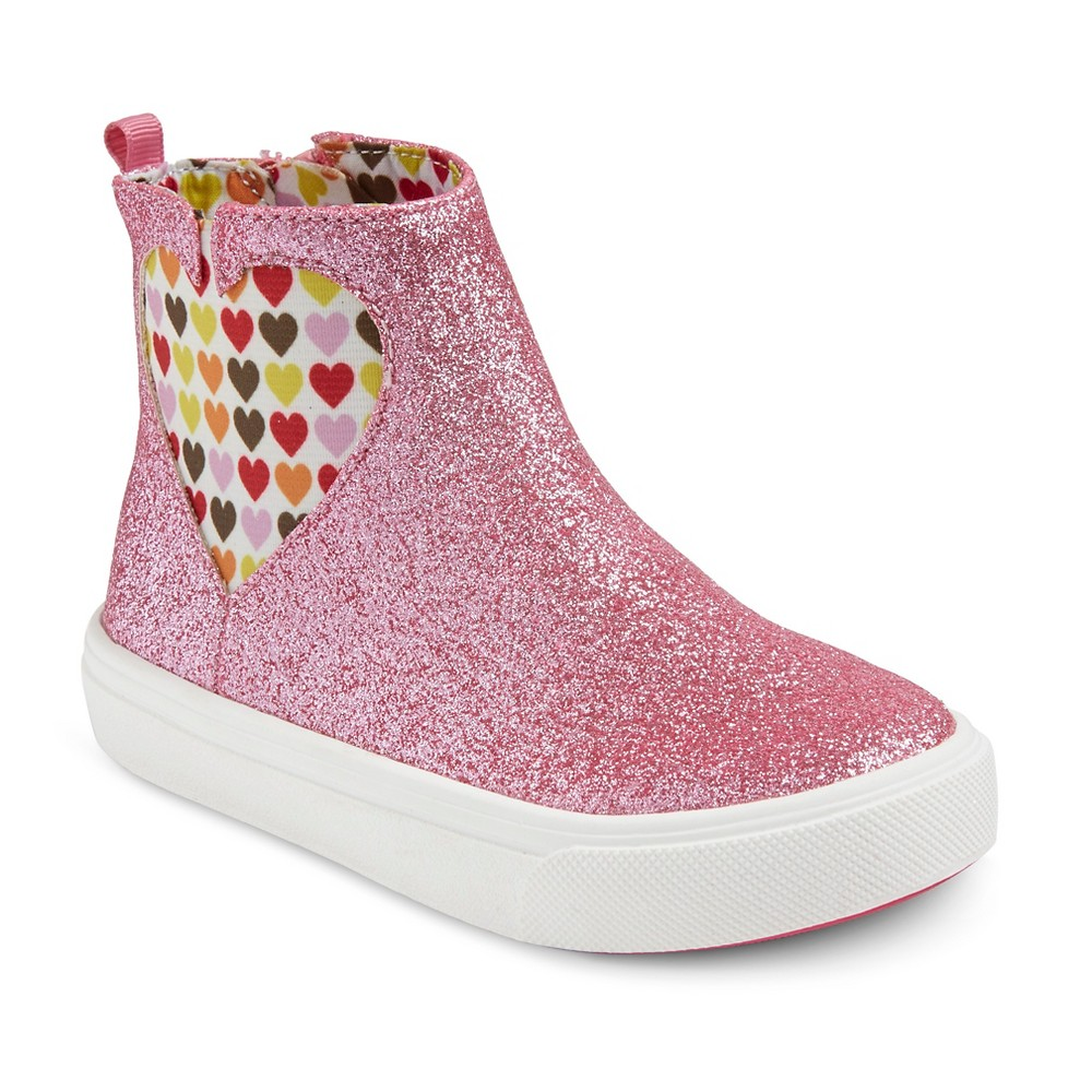 Toddler Girls' Just Buds Alex Sneakers - Pink 8