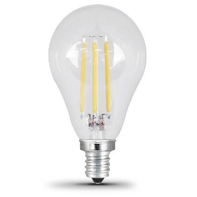 feit a15 60watt dimmable filament led light bulb candelabra base 2 pack frost - A15 Bulb