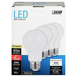 Feit A19 40-Watt LED Light Bulb (4 Pack) - Soft White