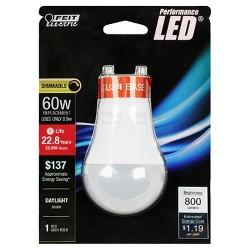Feit A19 60-Watt LED Dimmable Performance Light Bulb GU24 Base - Soft White