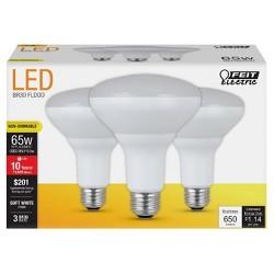 Feit BR30 65-Watt LED Light Bulb (3 Pack) 2700K - Soft White