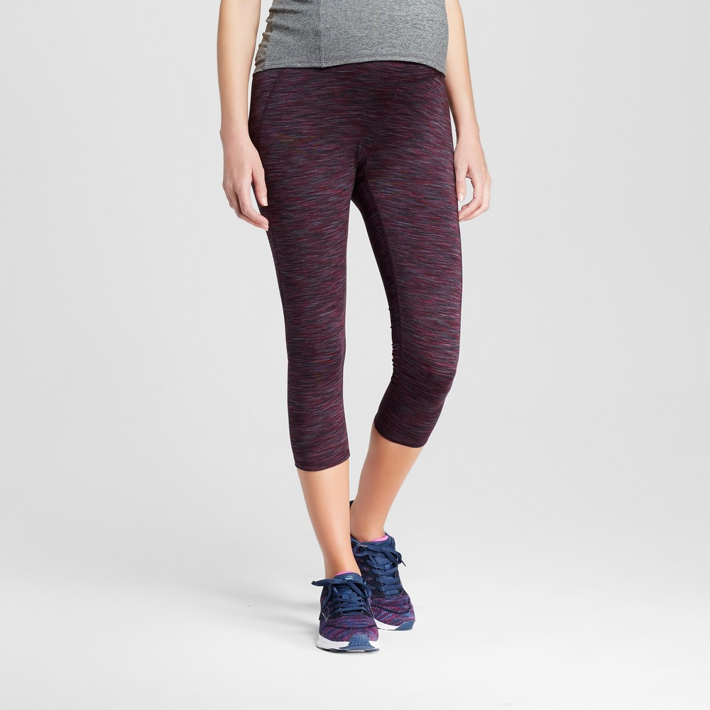 Maternity Over the Belly Freedom Yoga Leggings - C9 Champion Dark Berry Purple/Black Space Dye XL, Womens