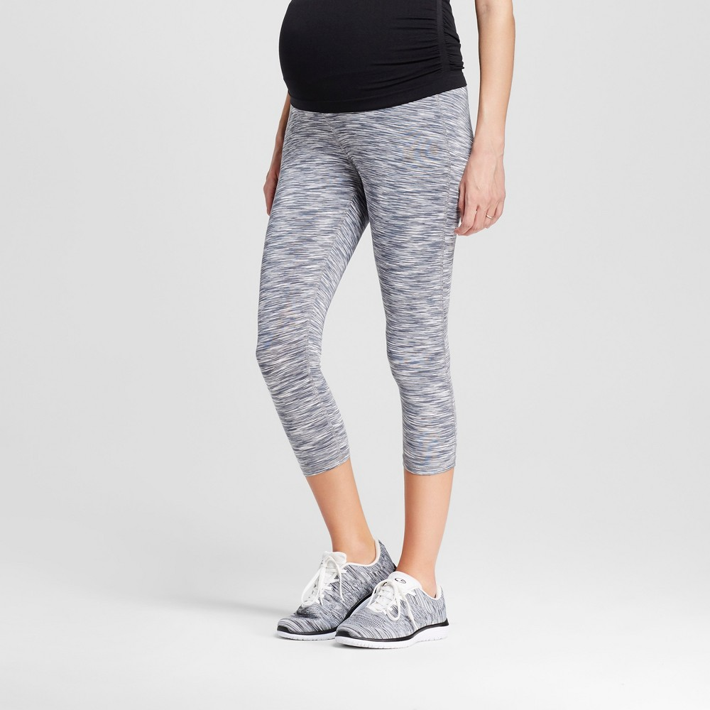 Maternity Over the Belly Freedom Yoga Leggings - C9 Champion Military Gray/White Space Dye S, Womens