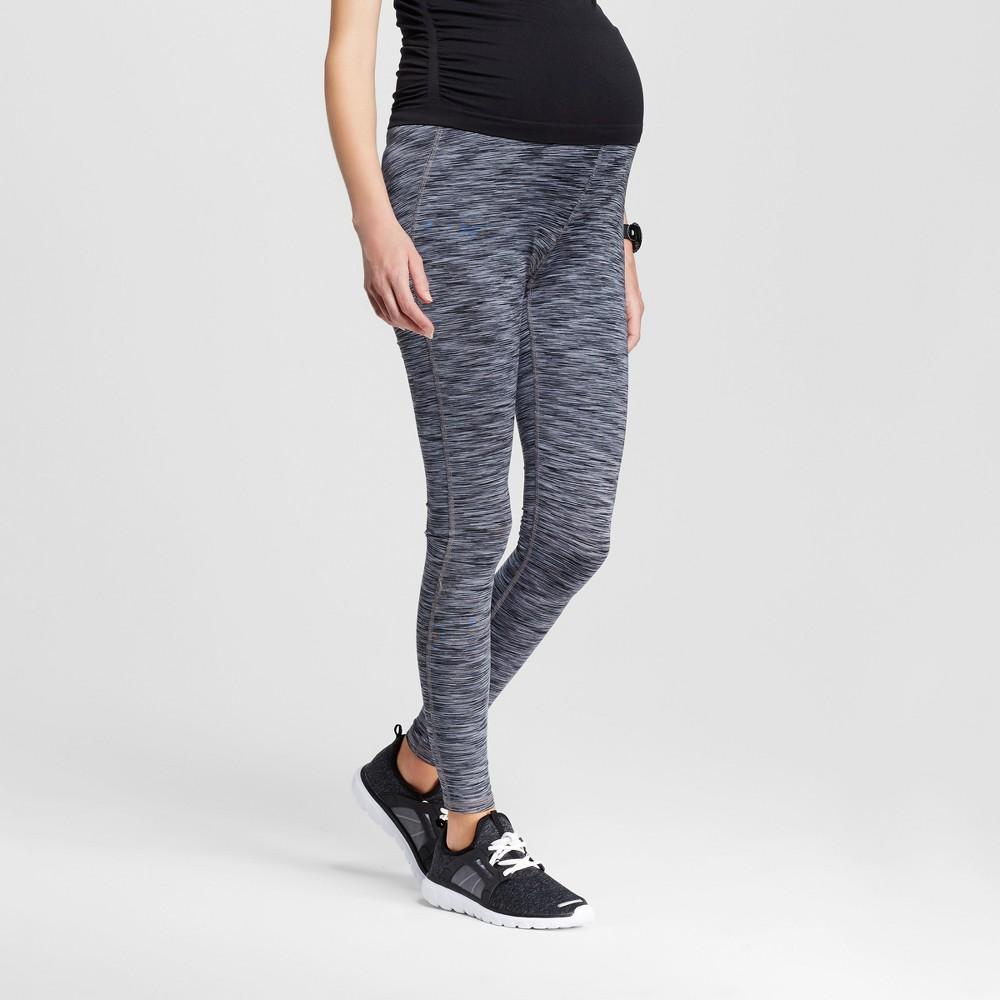 Maternity Over the Belly Freedom Yoga Leggings - C9 Champion - Black/Dark Gray Space Dye S, Womens