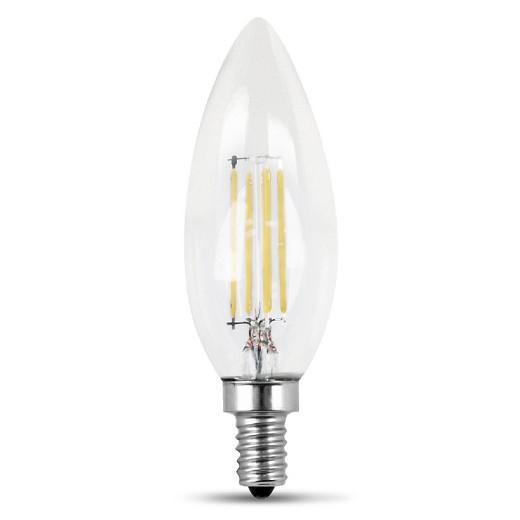 feit 40 watt dimmable filament led decorative light bulb torpedo tip candelab. Black Bedroom Furniture Sets. Home Design Ideas