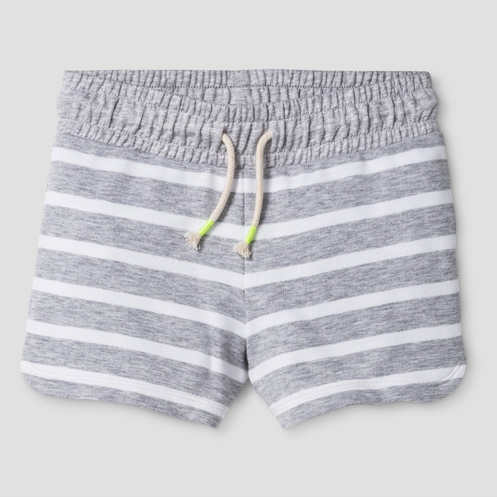 Girls Knit Pull On Shorts - Cat & Jack Heather Gray XS