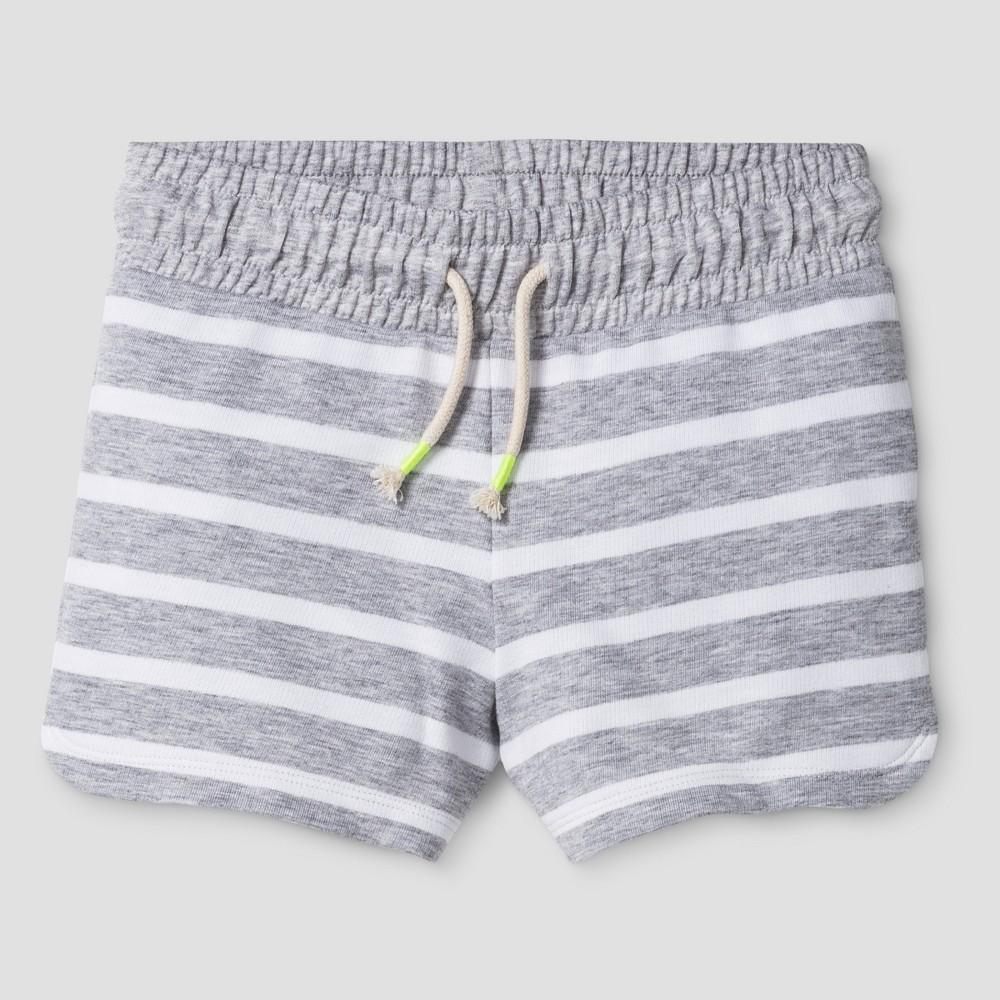 Girls Knit Pull On Shorts - Cat & Jack Heather Gray XL