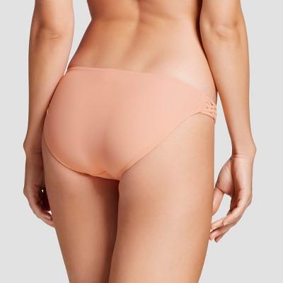 Women's Strappy Hipster Bikini Bottom - Peach (Pink) - S - Xhilaration