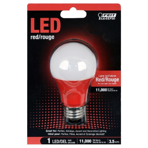 Feit A19 LED Performance Party Light Bulb - Red - image 1 of 2