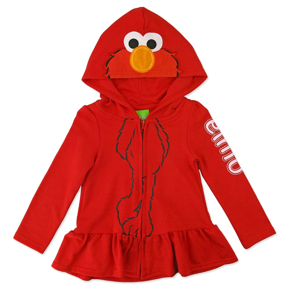 Elmo Toddler Girls Costume Hoodie 2T - Red