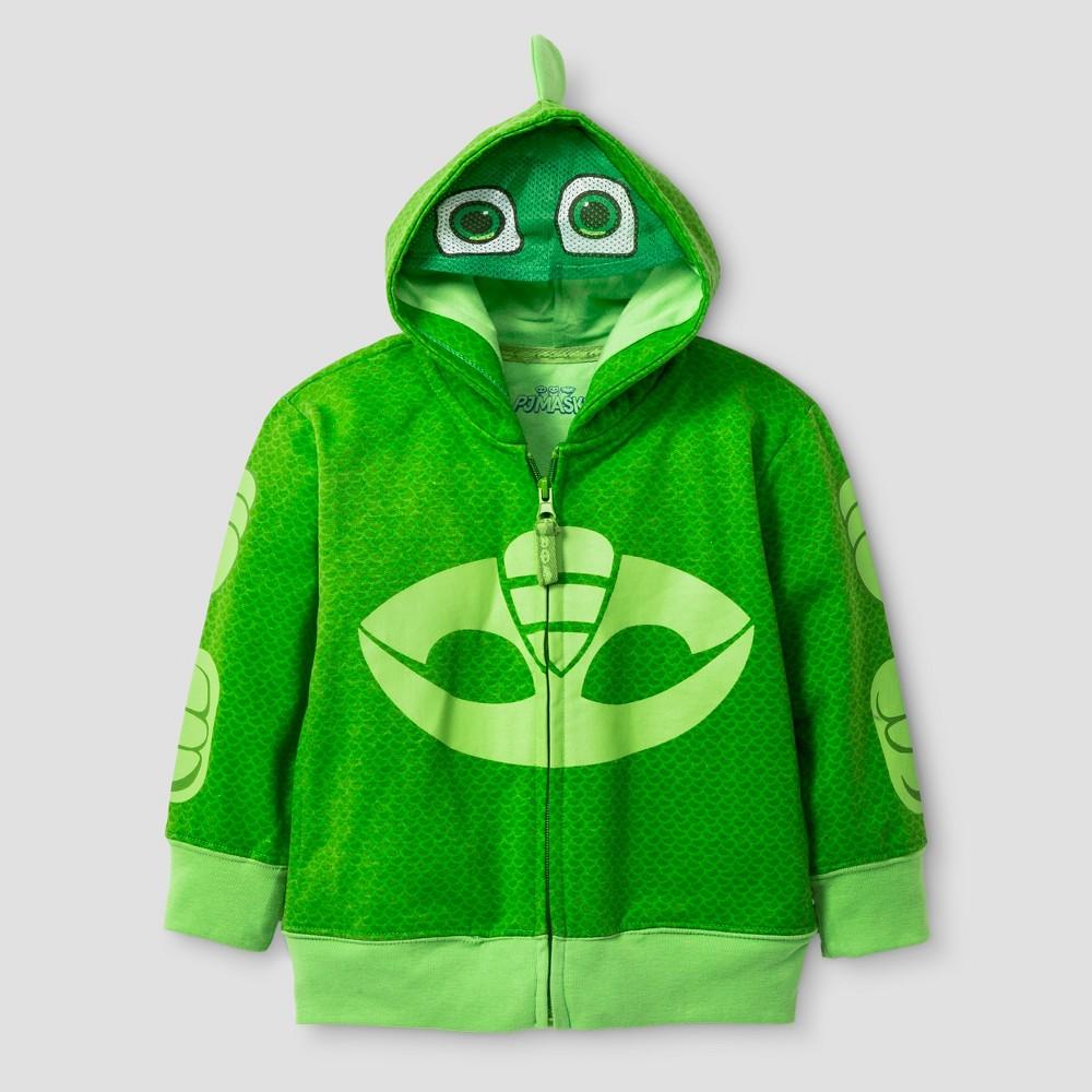 PJ Masks Toddler Boys Gekko Costume Hoodie 4T - Green
