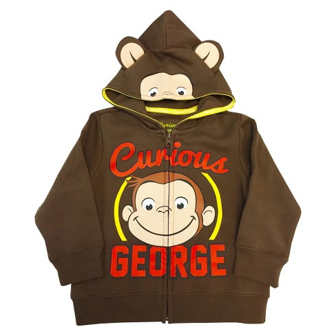 Toddler Boys' Curious George Costume Hoodie - Brown - image 1 of 1