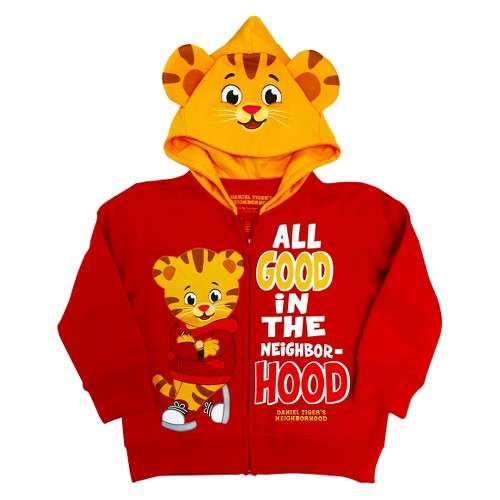 Daniel Tiger Toddler Boys' Costume Hoodie 3T - Red, Toddler Boy's