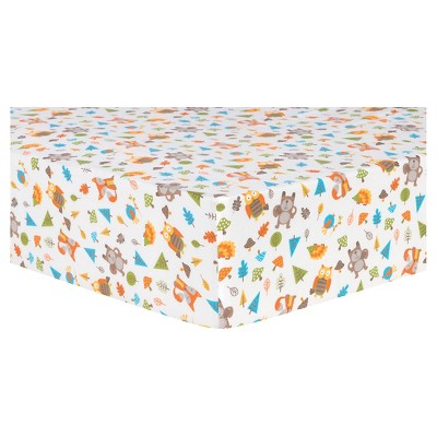 Trend Lab Deluxe Flannel Fitted Crib Sheet - Woodsy Animals