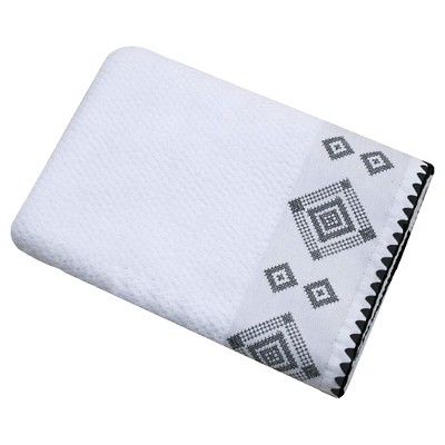 Embroidered Trim Bath Towel - White - Nate Berkus™
