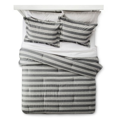 Gray Arch Stripe Comforter & Sham Set (Full/Queen)3-pc - Nate Berkus™