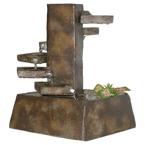 Alpine Corporation Eternity Tabletop Fountain Tiered Stone - Light Brown - image 1 of 1