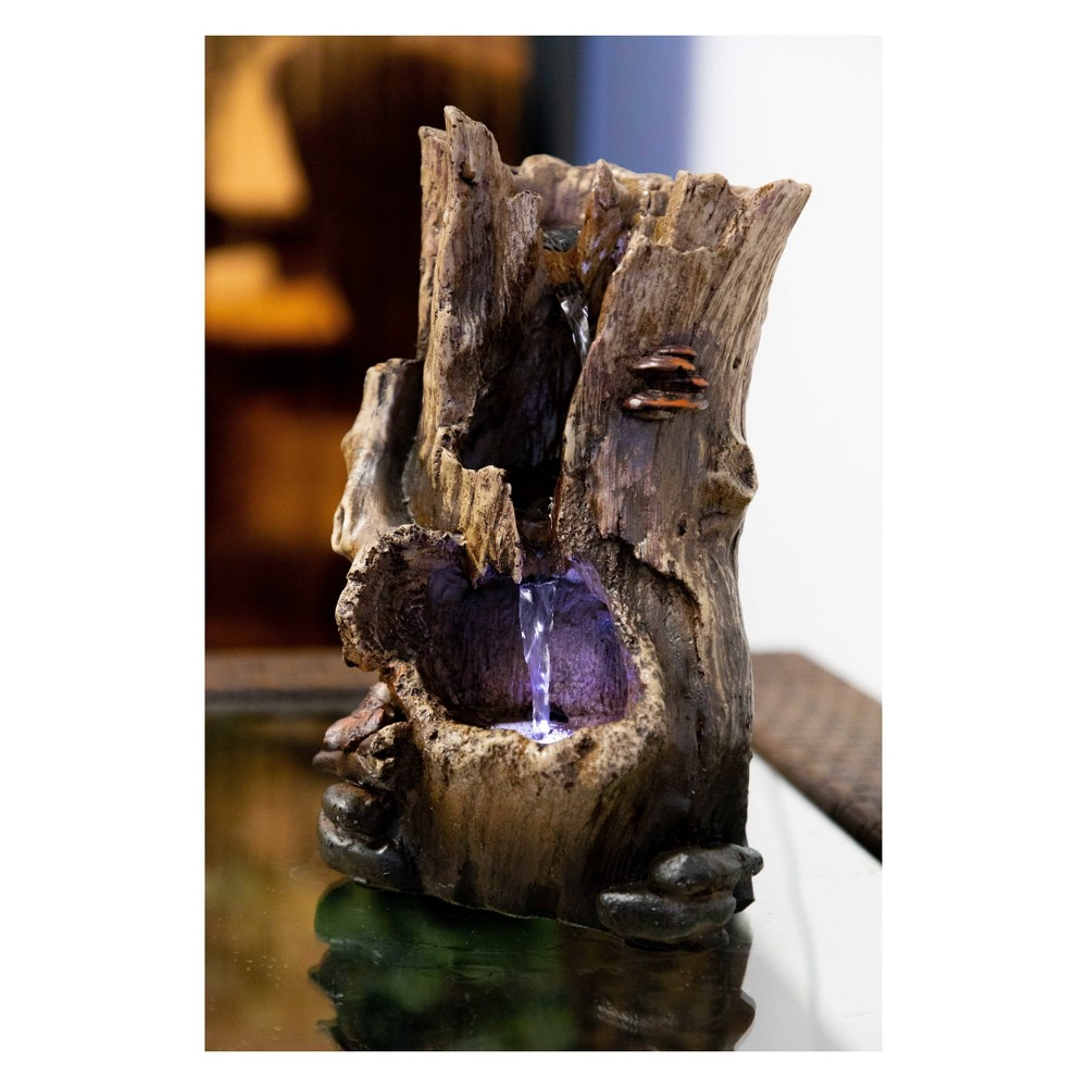 Alpine Corporation Rainforest Tabletop Fountain With Whit...