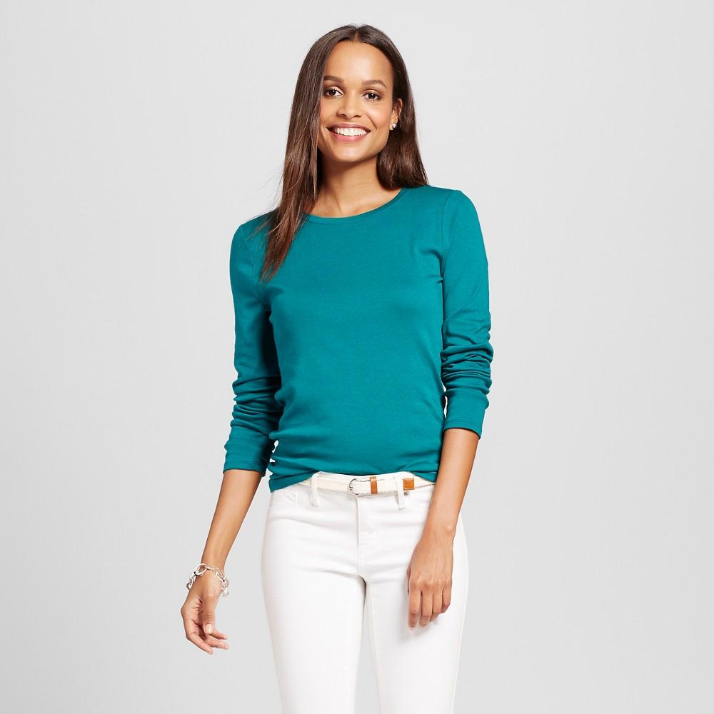 Women's Ultimate Long Sleeve Crew T-Shirt - Merona Windward Green XL