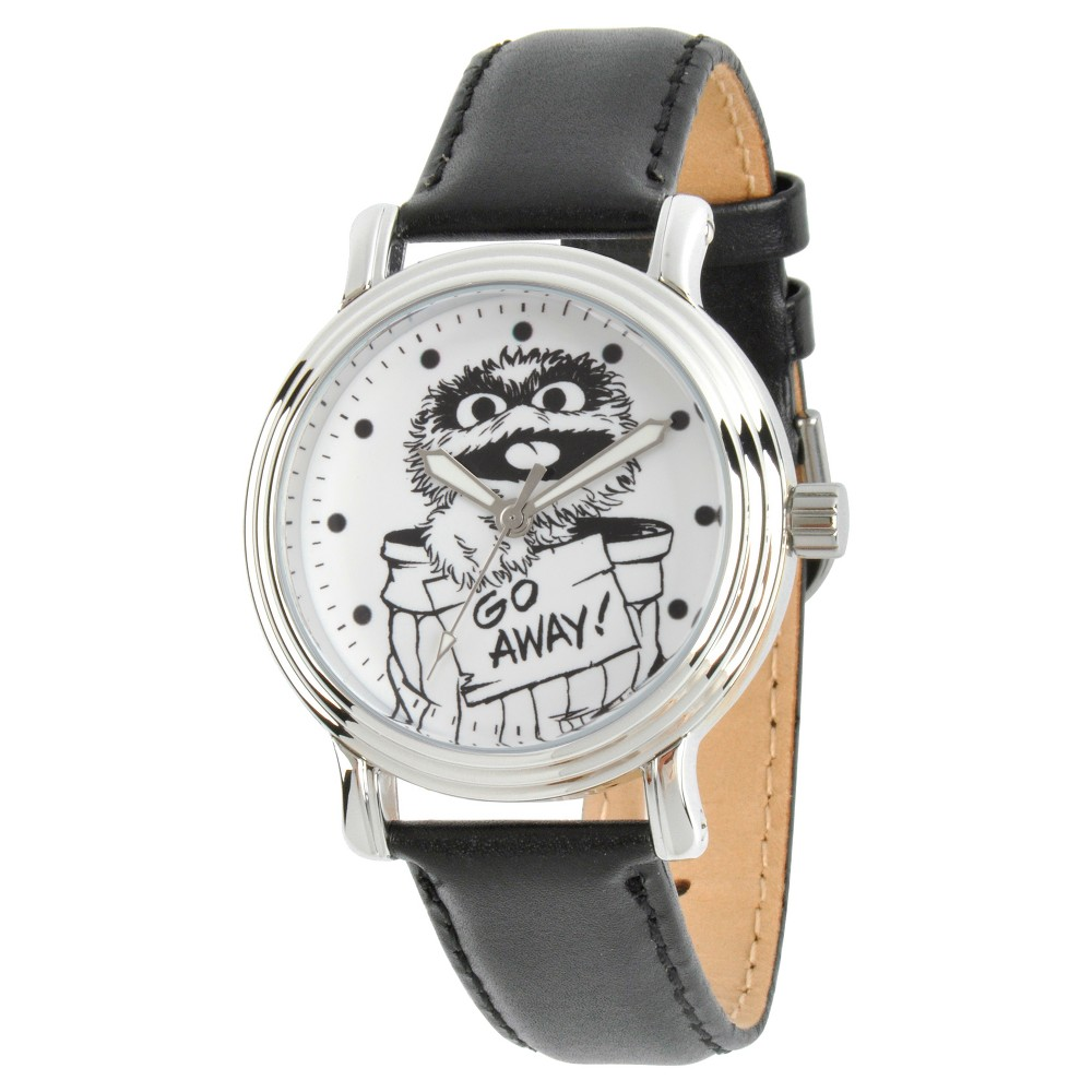 Women's Sesame Street Women's Silver Vintage Alloy Watch - Black