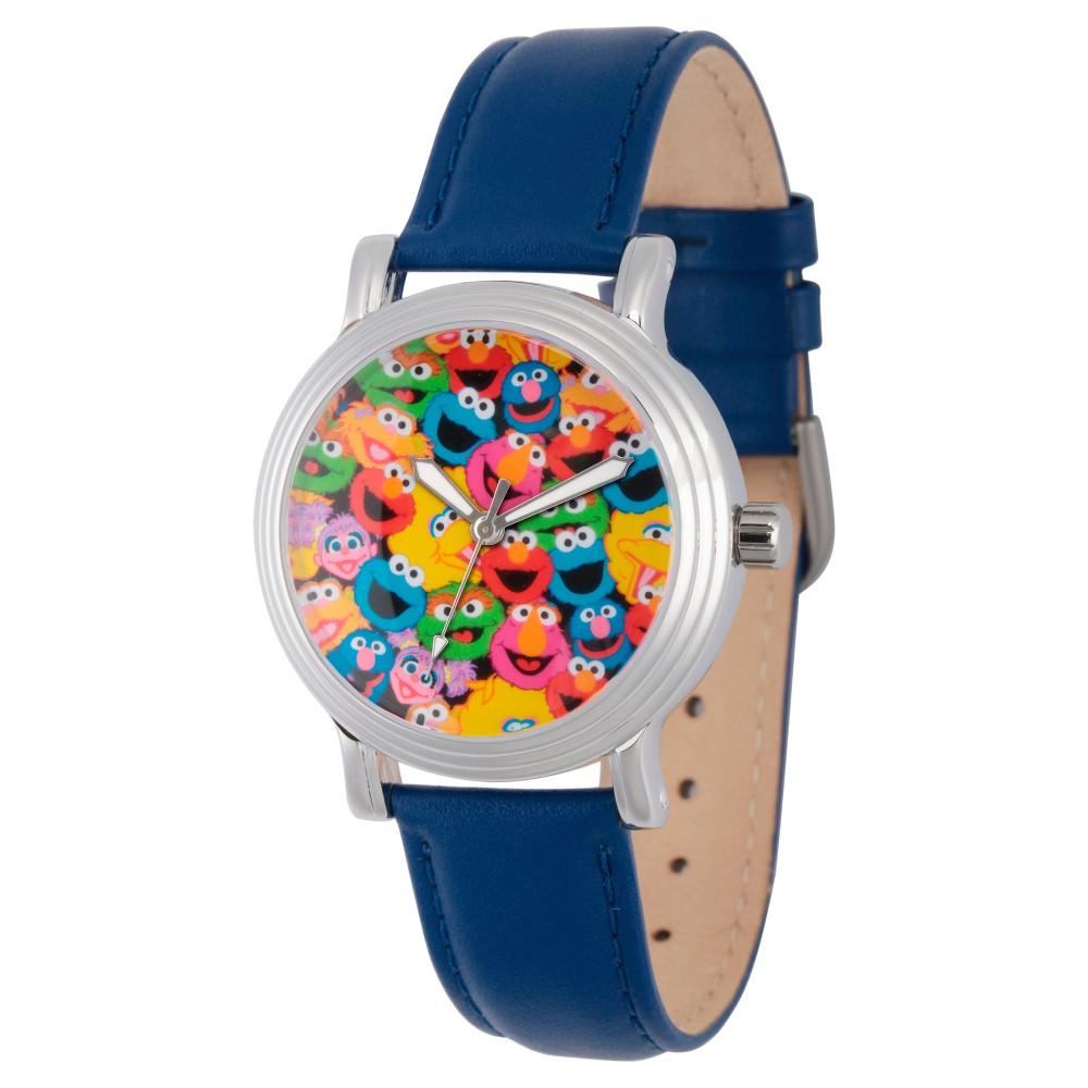 Womens Sesame Street Womens Silver Vintage Alloy Watch - Blue