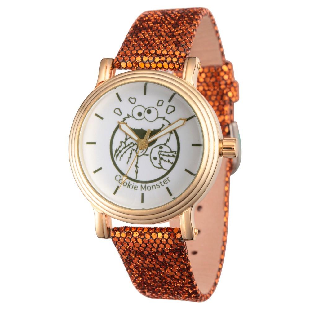 Womens Sesame Street Womens Gold Vintage Alloy Watch - Brown
