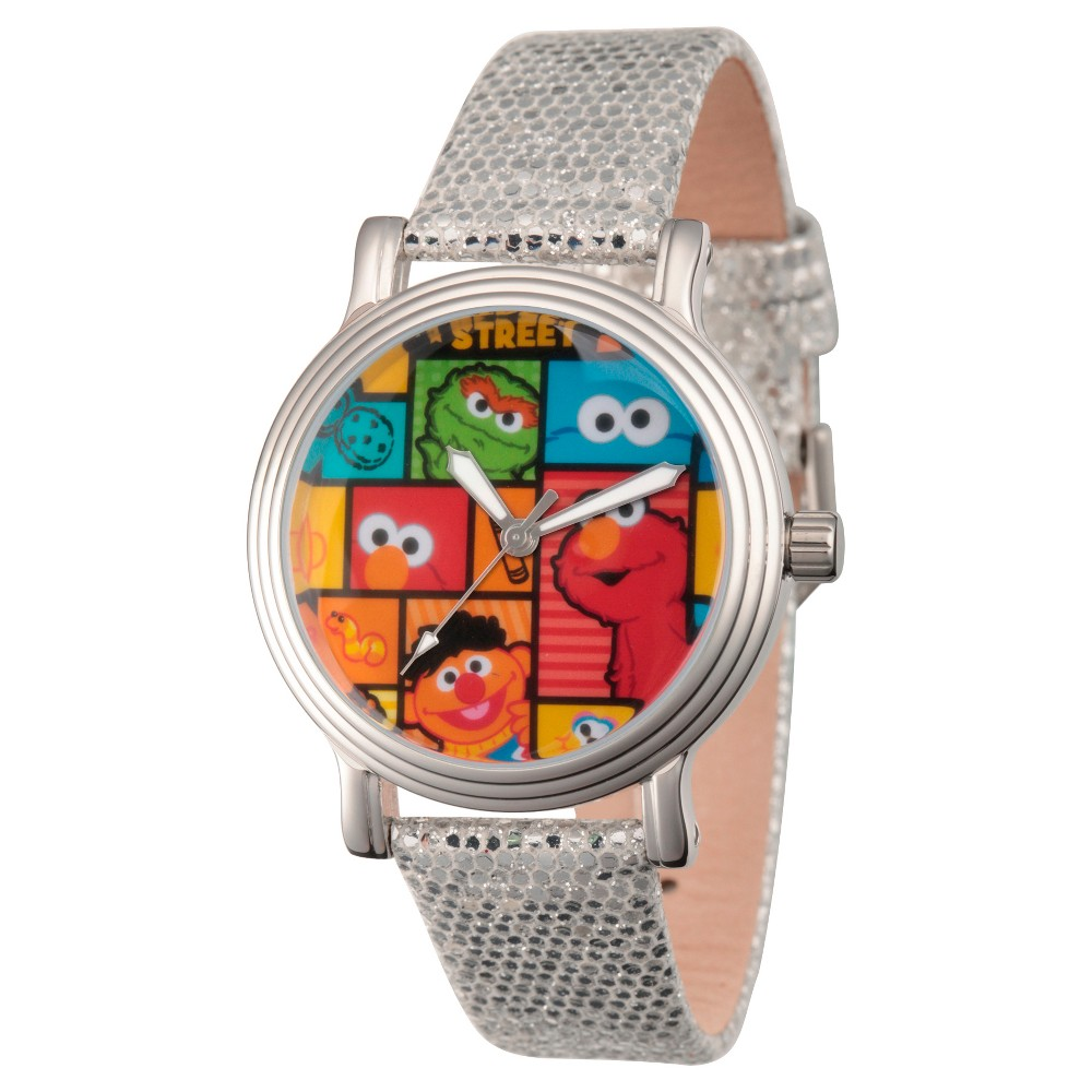 Women's Sesame Street Women's Gold Vintage Alloy Watch - Silver