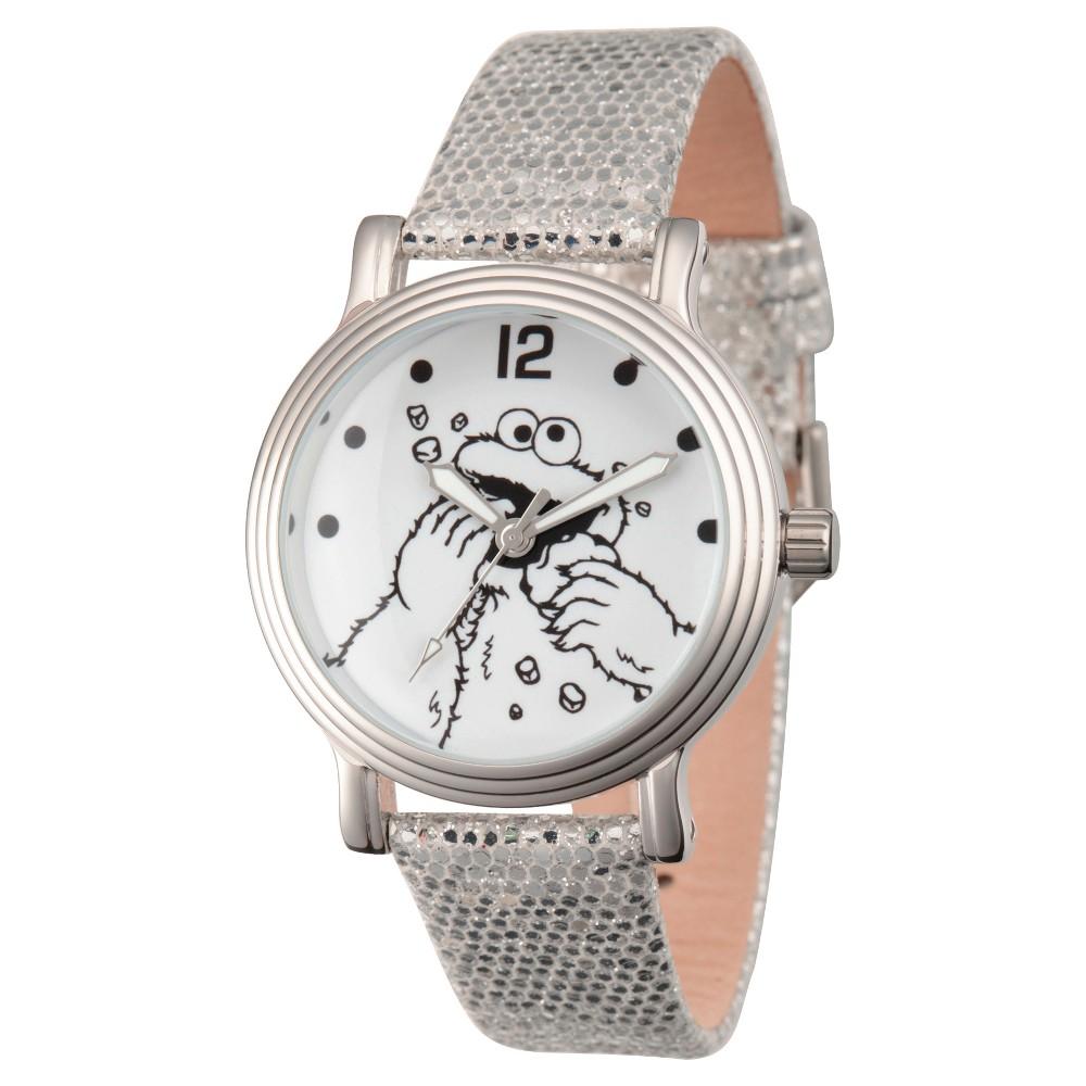 Womens Sesame Street Womens Silver Vintage Alloy Watch - Silver