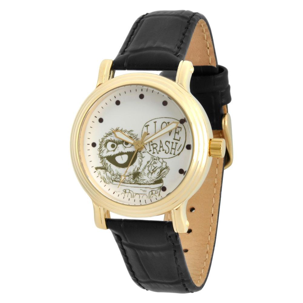 Womens Sesame Street Womens Gold Vintage Alloy Watch - Black