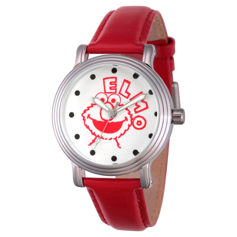 Womens Sesame Street Womens Silver Vintage Alloy Watch - Red