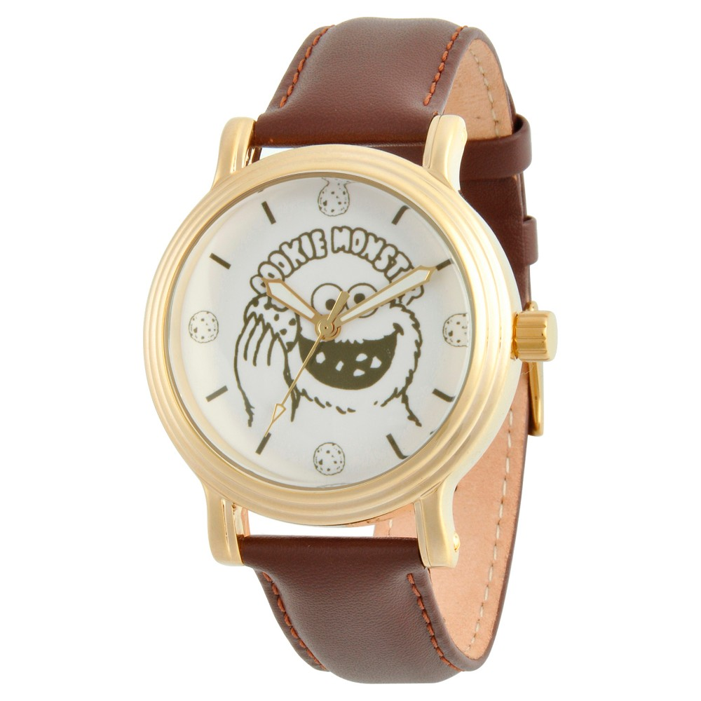Womens Sesame Street Womens Silver Vintage Alloy Watch - Brown