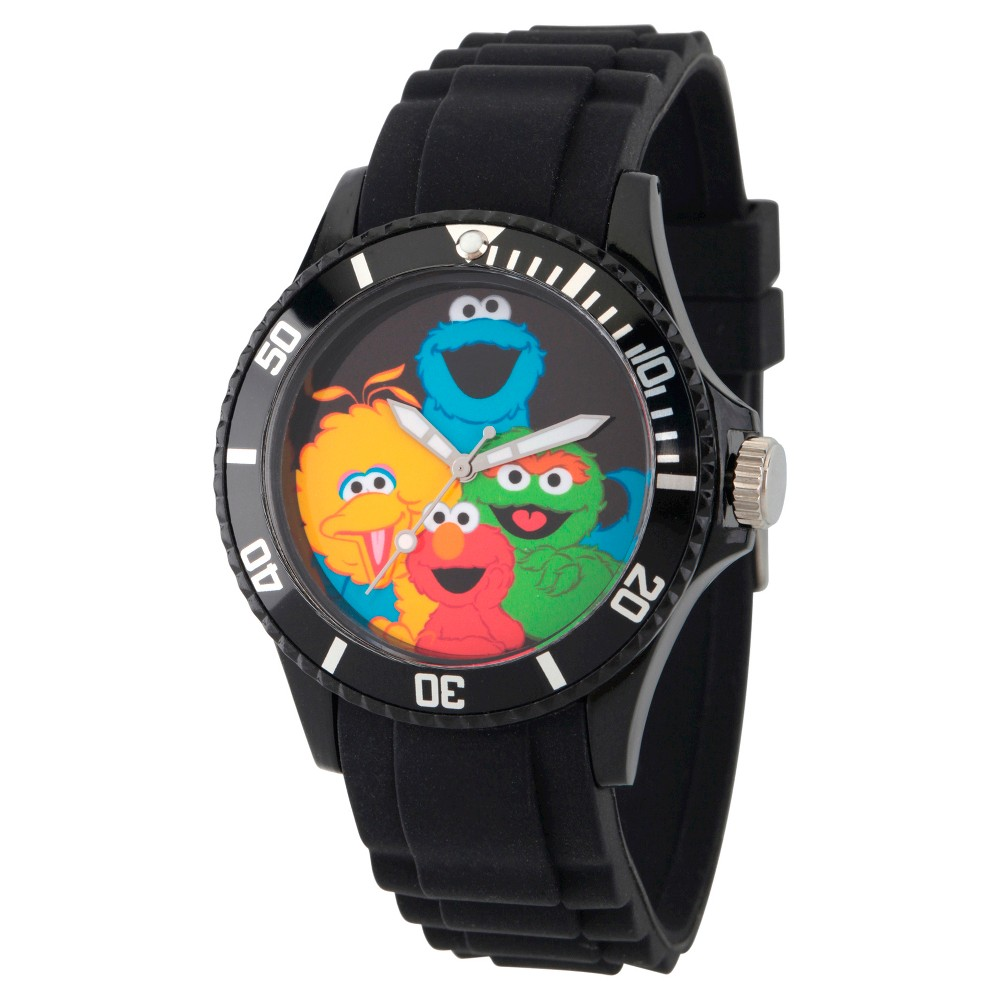 Unisex Sesame Street Unisex Black Plastic Watch - Black