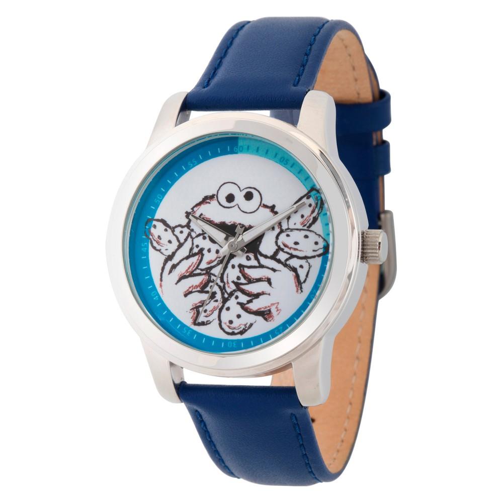Unisex Sesame Street Unisex Silver Alloy Watch - Blue