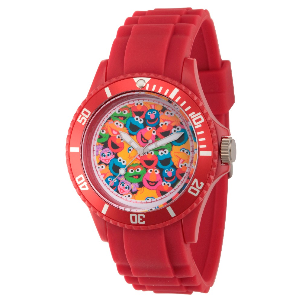Unisex Sesame Street Red Plastic Watch - Red